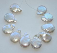 Natural Freshwater Keishi Drop Pearls 10 Pc by SilverFound on Etsy, $10.50