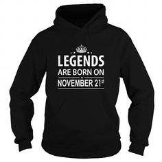 Cool 1121 November 21 Legend Born T Shirt Hoodie Shirt VNeck Shirt Sweat Shirt Youth Tee for womens and Men Shirts & Tees