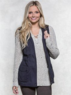 zoom image of Twill Vest 2016 Pictures, Vanity, Vest, Clothes For Women, Denim, My Style, Image, Jackets, Shopping