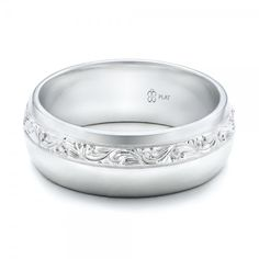 Custom #Engraved #Platinum Men's Band from our in-house artisans at Joseph Jewelry!