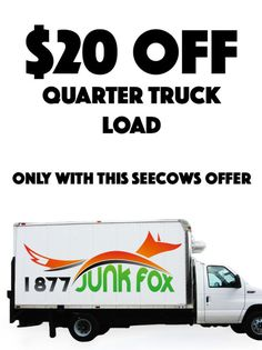1877 Junk Fox — $20 OFF a 1/4 Truck Load of Junk Removal / Garbage Disposal in the GTA #deal #savings #GTA #toronto #oakville #seecows #coupon