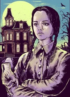 Wednesday The later years The Addams Family Poszter t The Addams Family, Adams Family Morticia, Wednesday Addams, Addams Family Halloween Costumes, Lion King Images, Tim Burton Characters, Family Poster, Horror Artwork, Family Painting