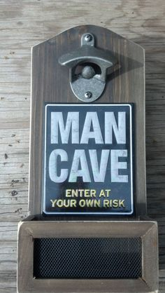 MAN CAVE Bottle Opener Cap Catcher Vintage Inspired Mechanic BBQ Husband Garage Guy Men Uncle Brother Step Dad Father-in-Law Grandpa Gift by CaliforniaCrownJewel on Etsy