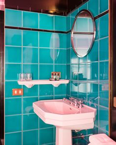 """Where to stay in Paris? At the """"Grand amour hotel""""! 10 reasons on our website ! Hotel Interiors, Retro Color, Paris Hotels, Retail Space, Bathroom Shower Curtains, Deco, How To Memorize Things, Paris France, Home"""