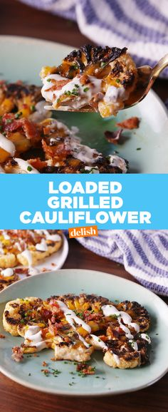 Load up on this Loaded Grilled Cauliflower. Get the recipe from Delish.com.