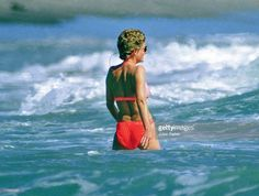 January 2, 1993: Princess Diana on holiday at Nevis Island in the Caribbean.:
