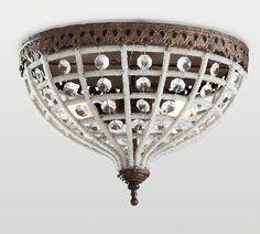 Dalila Beaded Crystal Flushmount | Pottery Barn