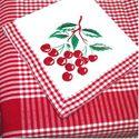 Cherry Square Tablecloth & Napkin Set