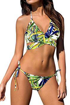 8a44755a12 2017 Sexy Floral Cross Bandage Halter Biquini String Swim Bathing Suit Plus  Size Swimwear Women Brazilian Push Up Bikini