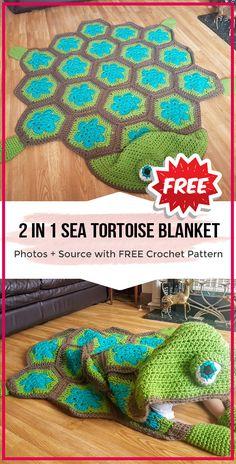 2 in 1 Sea Turtle Tortoise Hooded Blanket - easy crochet blanket pattern for beg. 2 in 1 Sea Turtle Tortoise Hooded Blanket – easy crochet blanket pattern for beginners Crochet Turtle Pattern Free, Boy Crochet Patterns, Crochet Pillow Pattern, Free Pattern, Free Crochet, Crochet Square Blanket, Baby Boy Crochet Blanket, Baby Afghans, Quick Crochet Blanket