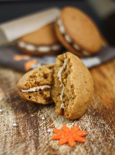 Sprinkle Bakes: Sweet Potato Whoopie Pies with Maple Marshmallow Creme