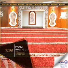Wow!! #Beli Sikit Pun #HargaBorong !! #RM 2.79 #KarpetSurau #MasjidCarpet #AlaqsaCarpets