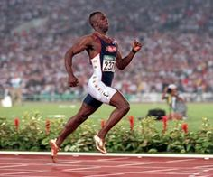 TUESDAY, JUL 2012 PM EDT Michael Johnson's gold medal in ignorance Michael Johnson links African-American sprinters to slavery, and revisits a particularly ugly pseudo-science BY AMY BASS Michael Johnson, Carl Lewis, Sydney, Golden Spike, Pseudo Science, Atlanta Olympics, 400 M, Olympic Champion, Sport Icon