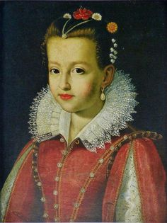 Marie de' Medicis, Queen of France, as a girl. By Scipione Pulzone? at the Pitti Palace.