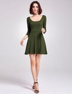 c3fe27a56713b2 Alisa Pan Long Sleeve Casual Knit Dress