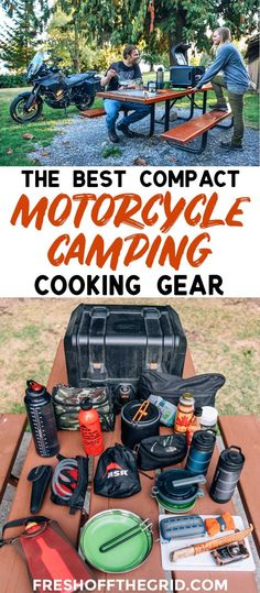 A guide to the best compact kitchen gear for motorcycle camping and touring. Motorcycle camping ideas | Motorcycle camping gear