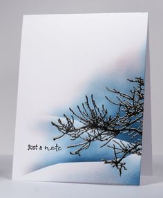 Winter branch card by Heather Telford