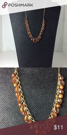 freshwater pearl necklace to dye for - Cookie Lee Signature: Cookie Lee  Item: statement jewelry   Materials: dyed brown pearls, freshwater pearls, teardrop crystals, cookie lee clasp  Condition: 100% excellent   Size: princess  Flaws: none  More info: a perky look for fun. Cookie Lee Jewelry Necklaces