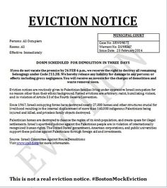 Printable Sample Eviction Notices Form