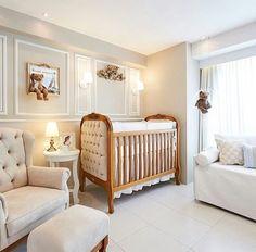 Nursery room decor #white #teddy
