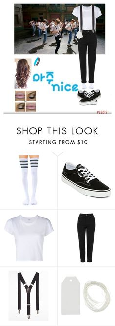 """Very Nice: Seventeen's Comeback"" by em-kpop ❤ liked on Polyvore featuring Leg Avenue, Vans, RE/DONE, Topshop, Express and Sweaty Bands"