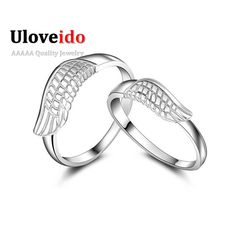 Find More Rings Information about Angel Wing Couple Rings Bijuterias Mens Ring 925 Silver Jewelry for Women Vintage Bijoux for Lovers Wedding Gift Ulove J240,High Quality jewelry ring,China jewelry basket Suppliers, Cheap jewelry tourmaline from ULOVE Fashion Jewelry on Aliexpress.com