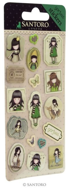 Gorjuss stickers The Scarf Santoro London meer leuks