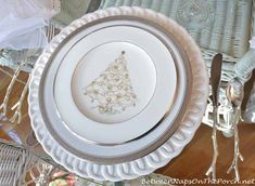 Christmas Table Setting with Silver Palace by Noritake