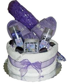 Spa towel cake (can use spa robe, big soft cotton towel sheet, Hair ...