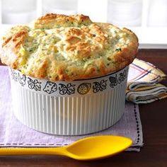 Zucchini & Sweet Corn Souffle Recipe -Adjust to THMify Corn Souffle, Souffle Dish, Souffle Recipes, Veggie Dishes, Veggie Recipes, Food Dishes, Cooking Recipes, Side Dishes, Bread Recipes