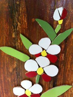 Mosaic Flowers, Mosaic Art, Diy Home Decor, Art Projects, Planter Pots, Floral, Crafts, Beautiful, Color