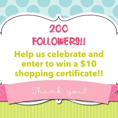 "Yea!!!! Overnight we hit our next milestone of 200 followers! As a thank you we are giving away a $10 shopping spree to someone! When we hit 250 we will draw a name- here's what to do:  1. ""Follow"" us on Instagram  2. Tag a friend who must follow us too 3. Head to our shop (link in profile) and favorite us there. 4. Tell us what else you would like to see coming up or what is your fav product(s) we offer!  Good luck!! Winner will be drawn when the count hits 250!  #filofax #mambi…"