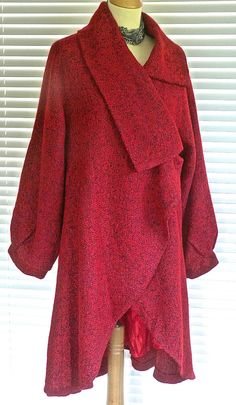Fab Ladies lagenlook Plus size  Wrap style Fit & Flare wool mix coat RRP £129