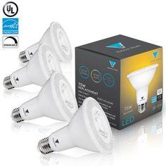 Triangle Bulbs LED Bulbs (Pack Of 4) 12-Watt (75-Watt) PAR30 LED Flood Light Bulb, Dimmable, UL Listed, Energy star certified, White