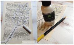 DIY Fall Decor: Book Page Art Tutorial