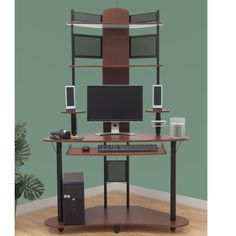 Minimalist Design Computer Desk & Chair Corner L-shaped Ergonomic ...