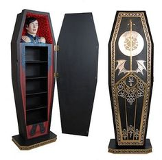 ::swoons, overcome with coveting:: Viablackpaint20:Dracula coffin book case