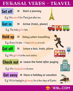 Phrasal Verbs for Travel