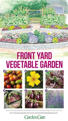 Vegetable garden with curb appeal Vegetable garden with curb appeal,Garden Plans This vegetable garden is beautiful enough to go in the front yard garden ideas vegetable vegetables gardening to start in january Garden Types, Jardines Del Patio Frontal, High Country Gardens, Container Gardening Vegetables, Vegetable Gardening, To Go, Front Yard Design, Vegetable Garden Design, Veg Garden