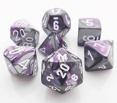 Keep 'em rolling with Gemini Dice (Purple and Steel). This RPG dice set has all...