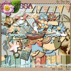 By The Sea Digital Scrapbooking Kit by DigitalDesignsbyJodi, $3.50