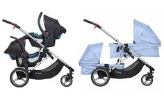 Looking for a twin pram for newborn twins? We take a look at the best twin prams that take two carrycots and can be used by twins from birth. Pram Stroller, Baby Strollers, Double Prams, Twin Pram, Best Prams, Phil And Teds, Nursing Chair, Young Parents, Newborn Twins