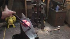 Forging a cross-peen hammer. (1045 steel)