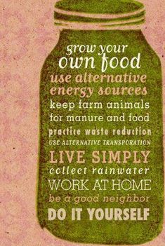 sustainable living !!