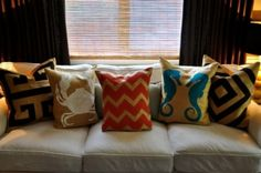 DIY Burlap Cushion Covers
