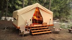 Adirondack Safari - Home. Perfect for no hassle camping. They come and set it up for you!