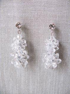 Swarovski crystal 2 daisy stud earrings by trinkjewelry