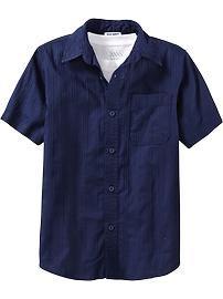 Boys Striped-Dobby Shirts