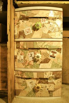 mod podge plastic bin by joislemp, via Flickr
