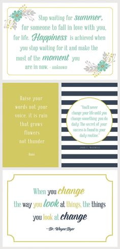 "Free Printable 4""x6"" Inspirational Quotes. Available at simpleasthatblog.com"